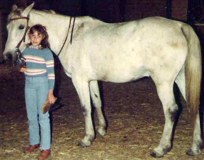 Author Kelly Byrne with horse