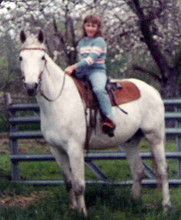Author Kelly Byrne on horse