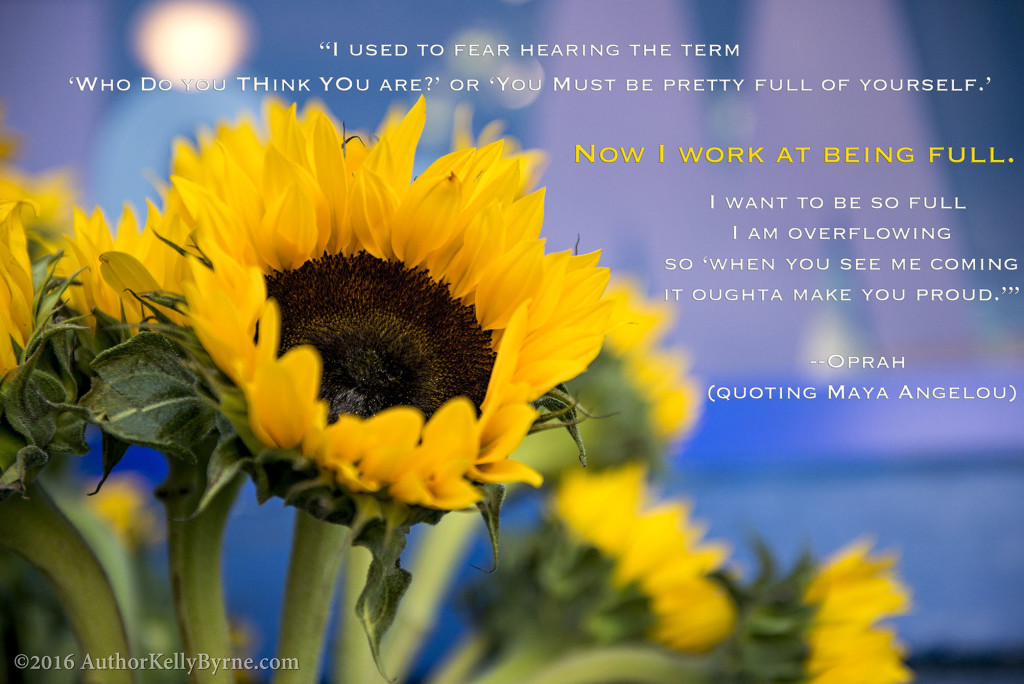 Oprah quote for author kelly byrne blog